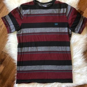 Vans Men's off the wall striped short sleeve tee S